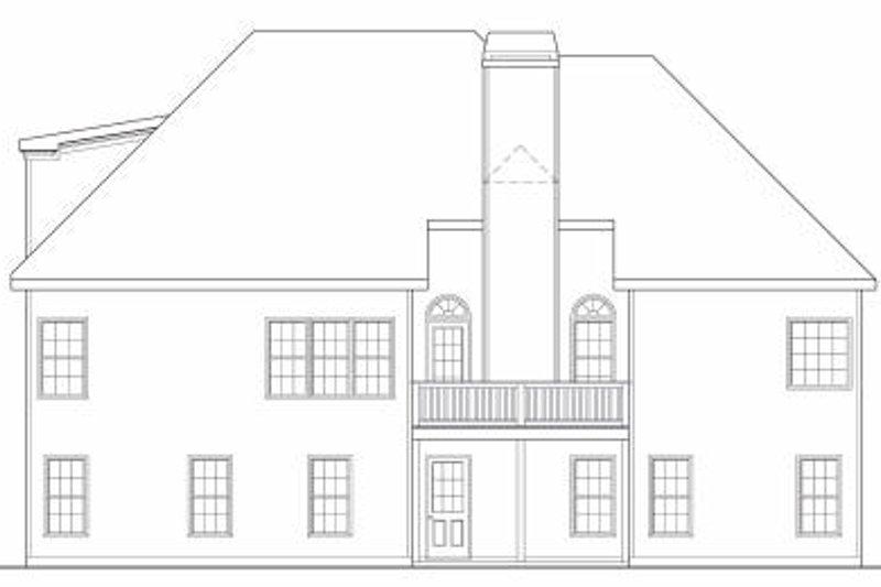 European Exterior - Rear Elevation Plan #419-126 - Houseplans.com
