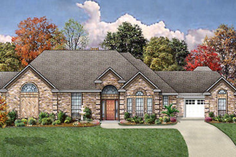 European Exterior - Front Elevation Plan #84-259