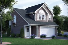 Dream House Plan - Traditional Exterior - Front Elevation Plan #57-165