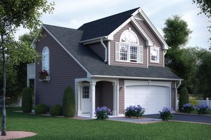 Home Plan Design - Traditional Exterior - Front Elevation Plan #57-165