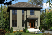 Contemporary Style House Plan - 3 Beds 1 Baths 1366 Sq/Ft Plan #25-4328 Exterior - Front Elevation