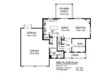 Traditional Floor Plan - Main Floor Plan Plan #1010-243