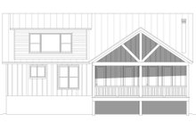 Country Exterior - Rear Elevation Plan #932-87