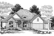 Traditional Style House Plan - 2 Beds 2 Baths 2425 Sq/Ft Plan #70-343 Exterior - Front Elevation