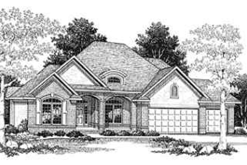 Dream House Plan - Traditional Exterior - Front Elevation Plan #70-343