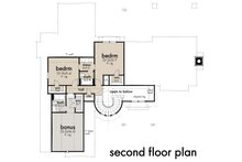 Contemporary Floor Plan - Upper Floor Plan Plan #120-268