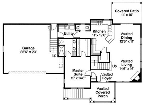 Traditional Floor Plan - Main Floor Plan Plan #124-717