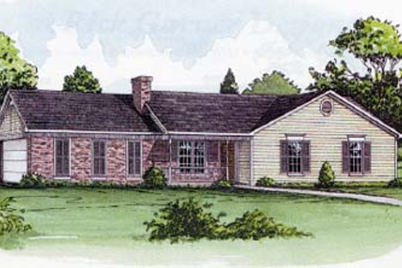 Ranch Style House Plan - 3 Beds 2 Baths 1263 Sq/Ft Plan #16-102