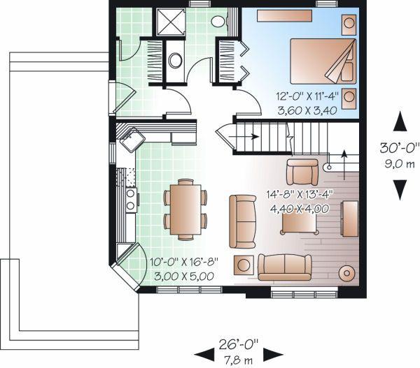Traditional Floor Plan - Main Floor Plan Plan #23-867
