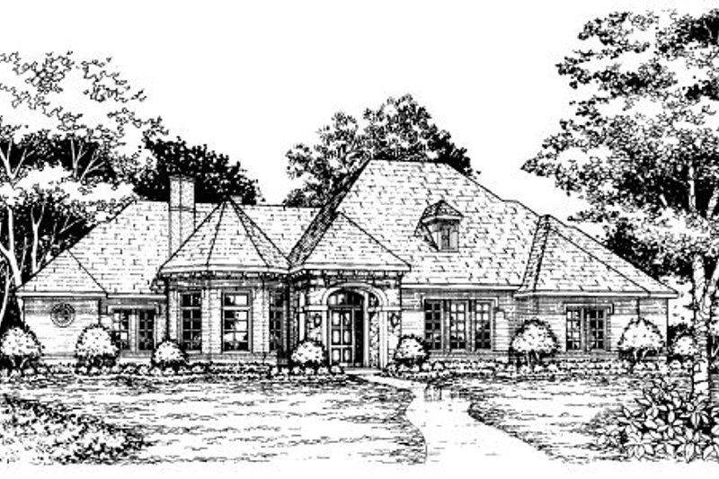 European Style House Plan - 4 Beds 3.5 Baths 4405 Sq/Ft Plan #141-296