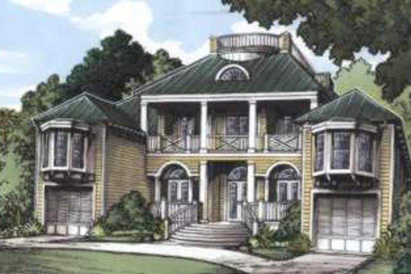 European Style House Plan - 5 Beds 5 Baths 5085 Sq/Ft Plan #115-152