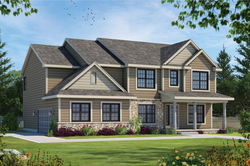 Home Plan - Traditional Exterior - Front Elevation Plan #20-2421