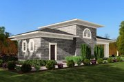 Classical Style House Plan - 0 Beds 1 Baths 709 Sq/Ft Plan #132-224 Exterior - Rear Elevation