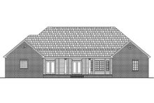 Home Plan - Rear View - 2800 square foot Country home