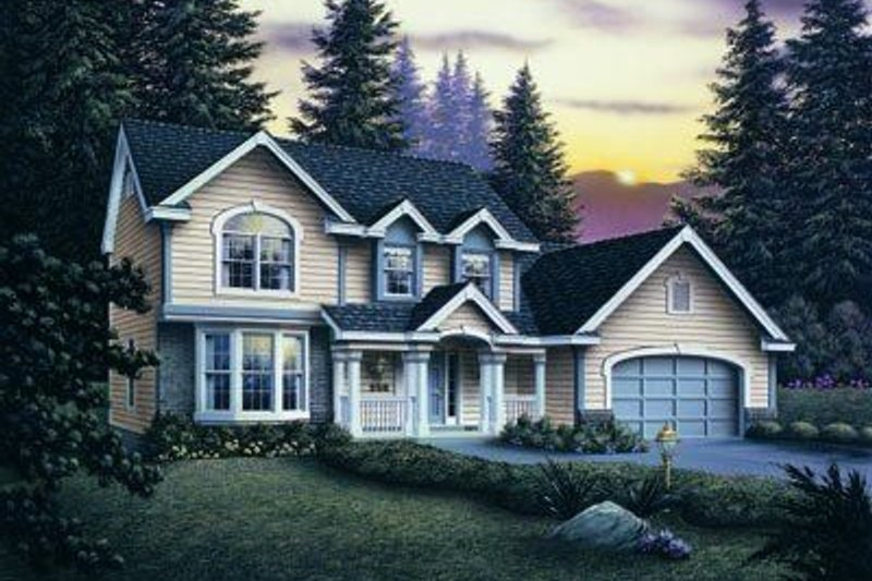 Traditional Exterior - Front Elevation Plan #57-124 - Houseplans.com
