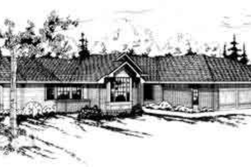 Modern Style House Plan - 4 Beds 2.5 Baths 2504 Sq/Ft Plan #124-128 Exterior - Front Elevation