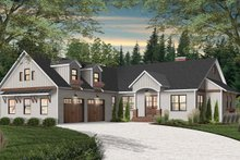 House Plan Design - Farmhouse Exterior - Front Elevation Plan #23-2689