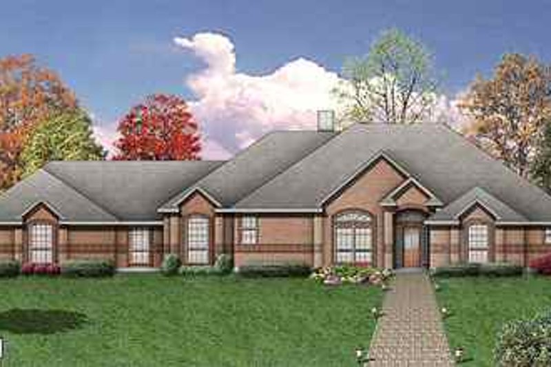 Traditional Exterior - Front Elevation Plan #84-150 - Houseplans.com