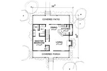 Cottage Floor Plan - Main Floor Plan Plan #472-5