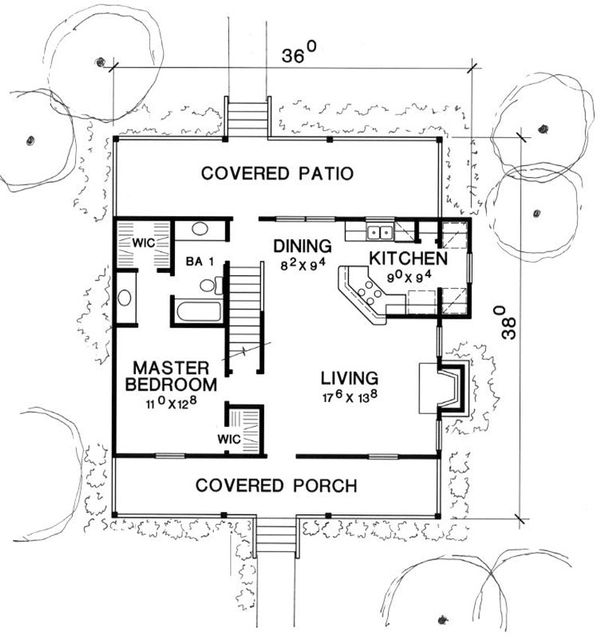 Cottage Floor Plan - Main Floor Plan Plan #472-5