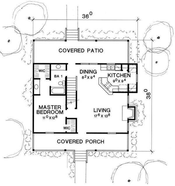 Home Plan - Cottage Floor Plan - Main Floor Plan #472-5