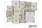 Contemporary Style House Plan - 3 Beds 2.5 Baths 2358 Sq/Ft Plan #51-585 Floor Plan - Main Floor Plan