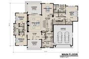 Contemporary Style House Plan - 3 Beds 2.5 Baths 2358 Sq/Ft Plan #51-585 Floor Plan - Main Floor