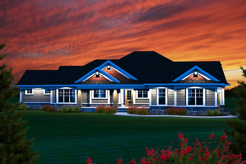 Home Plan - Ranch Exterior - Front Elevation Plan #70-1134