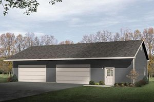 Ranch Exterior - Front Elevation Plan #22-548