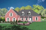 Colonial Style House Plan - 4 Beds 4.5 Baths 3684 Sq/Ft Plan #36-240 Exterior - Front Elevation
