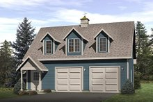 Colonial Exterior - Front Elevation Plan #22-420