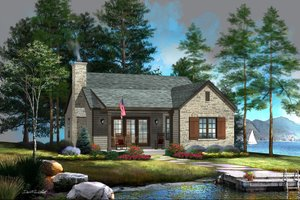 Architectural House Design - Cottage Exterior - Front Elevation Plan #22-616