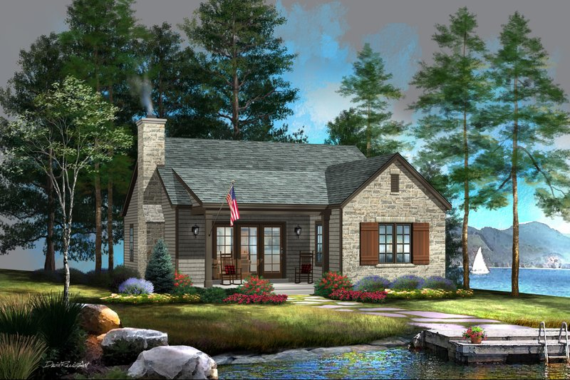 Architectural House Design - Cottage Exterior - Front Elevation Plan #22-616