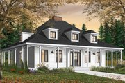 Country Style House Plan - 3 Beds 2 Baths 2299 Sq/Ft Plan #23-2091 Exterior - Front Elevation