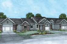 Architectural House Design - Ranch Exterior - Front Elevation Plan #20-1574