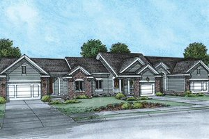 Ranch Exterior - Front Elevation Plan #20-1574