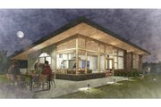Modern Style House Plan - 2 Beds 2 Baths 2970 Sq/Ft Plan #498-5 Exterior - Outdoor Living