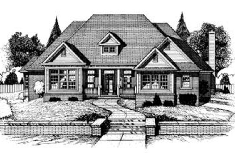 Traditional Exterior - Front Elevation Plan #20-939 - Houseplans.com