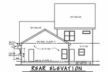 Architectural House Design - Traditional Exterior - Rear Elevation Plan #20-2340