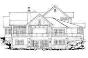 Country Style House Plan - 4 Beds 4.5 Baths 3141 Sq/Ft Plan #942-56 Exterior - Rear Elevation