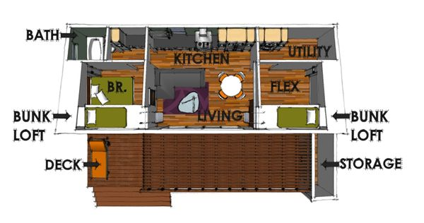 Modern Floor Plan - Main Floor Plan Plan #449-14