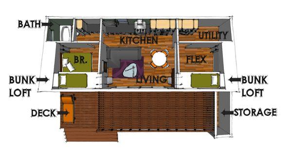Modern Floor Plan - Main Floor Plan #449-14