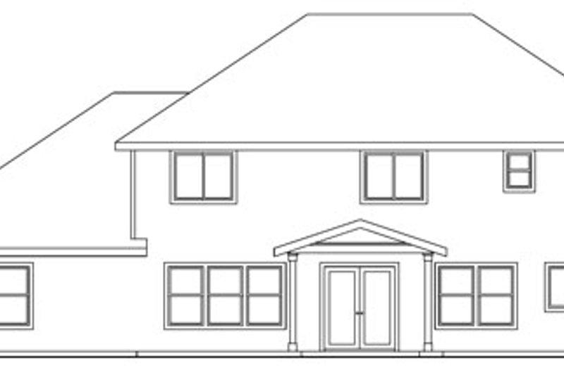 Craftsman Exterior - Rear Elevation Plan #124-712 - Houseplans.com