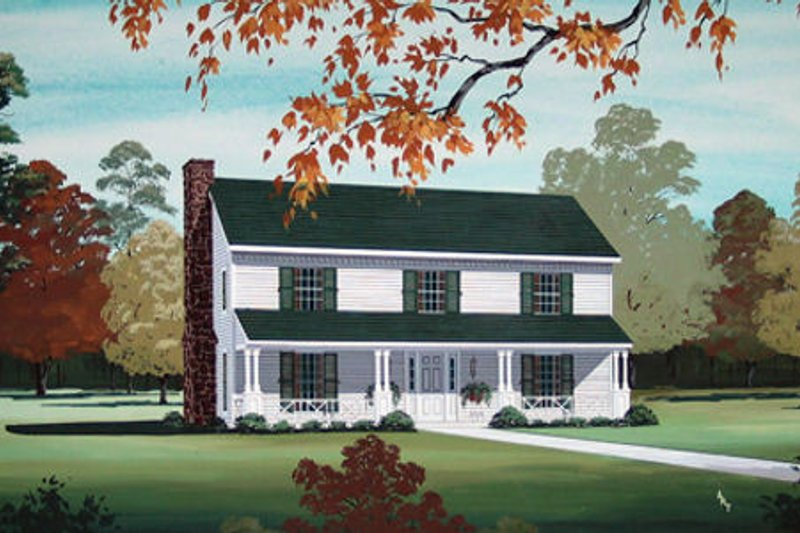 Country Exterior - Front Elevation Plan #45-347