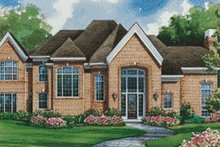 Home Plan - European Exterior - Front Elevation Plan #20-1121