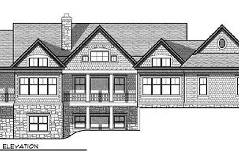 Traditional Exterior - Rear Elevation Plan #70-855 - Houseplans.com