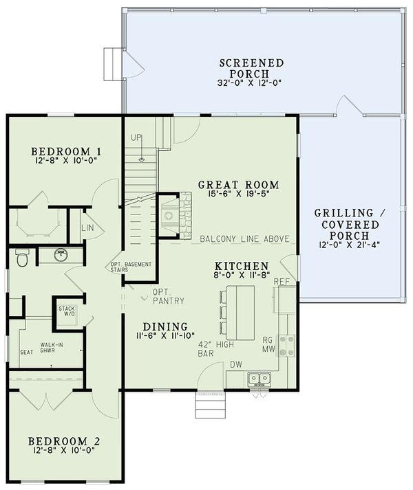 Country Floor Plan - Main Floor Plan Plan #17-2534