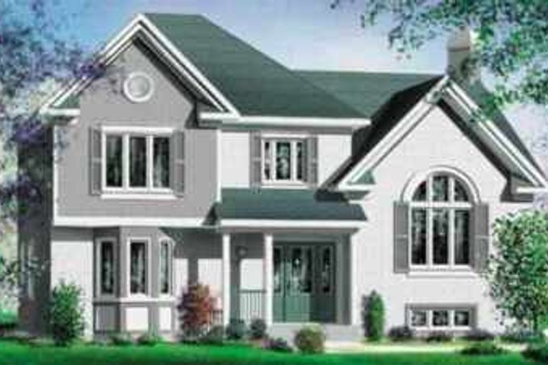 European Style House Plan - 4 Beds 2 Baths 2153 Sq/Ft Plan #25-301 Exterior - Front Elevation