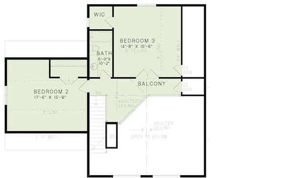 Cabin Floor Plan - Upper Floor Plan Plan #17-2469
