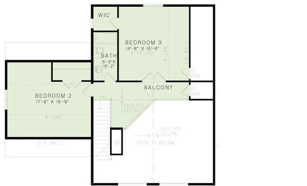 Cabin Floor Plan - Upper Floor Plan Plan #17-2469